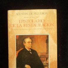 Libros de segunda mano: EPISTOLARIO DE LA RESTAURACION. AGUSTIN FIGUEROA. RIALP. 1985 331 PAG. Lote 35733431