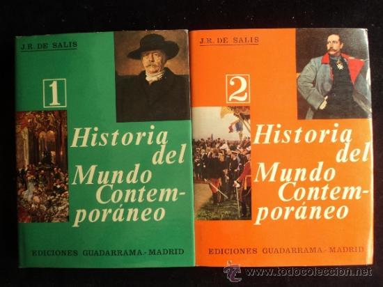 HISTORIA DEL MUNDO CONTEMPORANEO. DE SALIS. GUADARRAMA. VOL 1 Y 2. 1966 400 Y 415 (Libros de Segunda Mano - Historia Moderna)