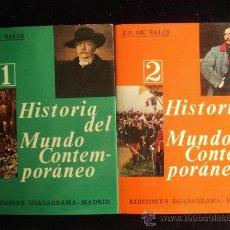 Libros de segunda mano: HISTORIA DEL MUNDO CONTEMPORANEO. DE SALIS. GUADARRAMA. VOL 1 Y 2. 1966 400 Y 415. Lote 36249555