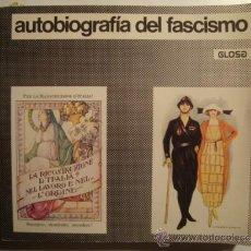 Libros de segunda mano: AUTOBIOGRAFÍA DEL FASCISMO - NIZZA (ED. GLOSA, 1977). MUSSOLINI. FASCIO. FOTOS B/N Y COLOR.. Lote 36370795