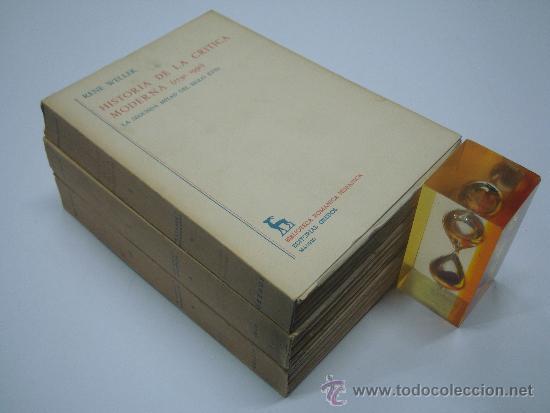 RENE WELLEK. HISTORIA DE LA CRITICA MODERNA.(1750-1950) 3 VOLUMENES.ED GREDOS 1969 (Libros de Segunda Mano - Historia Moderna)