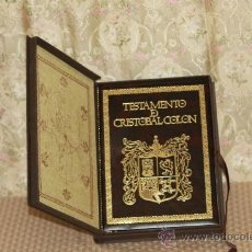 Libros de segunda mano: 2915- TESTAMENTO DE CRISTOBAL COLON. ANGEL ARIAS. EDIT ANAEL. 1991.. Lote 36651796