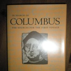 Libros de segunda mano: HENIGE, D.: IN SEARCH OF COLUMBUS. THE SURCES FOR THE FIRST VOYAGE. Lote 37614316