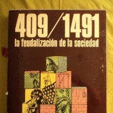Libros de segunda mano: 409/1491. LA FEUDALIZACION DE LA SOCIEDAD. VARIOS AUTORES.DIFUSORA INT. 289 PAG. Lote 39067254