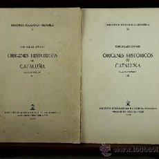 Libros de segunda mano: 3768- ORIGENES HISTORICOS DE CATALUÑA, JOSE BALARI JOVANY. EDIT. INST. NAC. ROMANICOS. 1964. 3 TOMOS. Lote 39084174