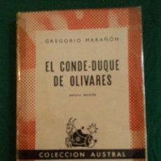 Libros de segunda mano: EL CONDE DUQUE DE OLIVARES. G.MARAÑON. ESPASA CALPE 1953 264 PAG. Lote 39391476