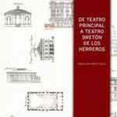 Libros de segunda mano: DE TEATRO PRINCIAL A TEATRO BRETÓN DE LOS HERREROS. 125 AÑOS DE HISTORIA LOGROÑO. TDKR. Lote 78970962