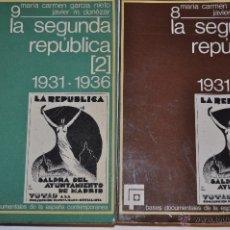 Libros de segunda mano: BASES DOCUMENTALES DE LA ESPAÑA CONTEMPORÁNEA. LA SEGUNDA REPÚBLICA. 1931-1936. RM63631-V. Lote 40293477