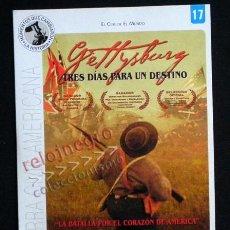Libros de segunda mano: GETTYSBURG DVD NUEVO PELÍCULA BÉLICA - GUERRA DE SECESIÓN EEUU HECHO REAL BATALLA HISTORIA -NO LIBRO. Lote 40941894