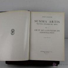 Libros de segunda mano: 4414- SUMMA ARTIS. HISTORIA GENERAL DEL ARTE. JOSE PIJOAN. EDIT. ESPASA CALPE. 1955. 17 VOL. . Lote 54360589