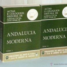 Libros de segunda mano: ANDALUCÍA MODERNA. DOS TOMOS.. Lote 42491826