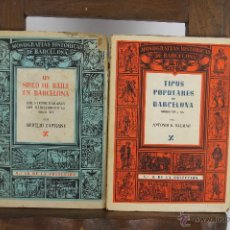Libros de segunda mano: D-368. MONOGRAFIAS HISTORICAS DE BARCELONA. VV.AA. LIB. MILLA. AÑOS 40. 5 VOL. Lote 42788966