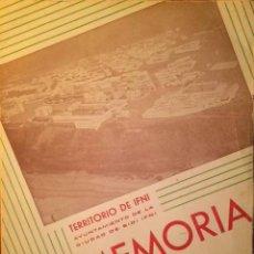 Libros de segunda mano: MEMORIA - TERRITORIO DE IFNI - AYUNTAMIENTO DE SIDI IFNI - AÑOS 1948 Y 1949. Lote 42818934