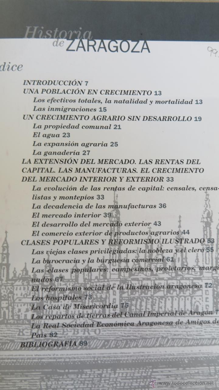 Libros de segunda mano: HISTORIA ZARAGOZA. LA INTEGRACION DE ZARAGOZA EN LA RED URBANA DE LA ILUSTRACION. GUILLERMO PEREZ - Foto 2 - 44668358