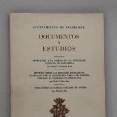 Libros de segunda mano: DOCUMENTOS Y ESTUDIOS. VOLUMEN X. INSTITUTO MUNICIPAL DE HISTORIA. 1962. Lote 44754130