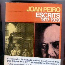 Libros de segunda mano: JOAN PEIRÓ - ESCRITS 1917-1939. Lote 45093945
