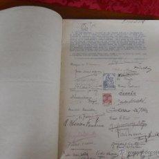 Libros de segunda mano: FERIA DE LIBROS CUESTA DE MOYANO, FACSIMIL SOLICITUD NUEVA UBICACION. Lote 45340473