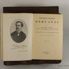 Libros de segunda mano: 5430- TRADICIONES PERUANAS. RICARDO PALMA. EDIT. ESPASA-CALPE.1967. 4 TOMOS DE 6.. Lote 45721429