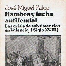Libros de segunda mano: HAMBRE Y LUCHA ANTIFEUDAL JOSÉ MIGUEL PALOP . Lote 46105704