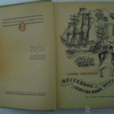 Libros de segunda mano: A. DE VIGNY. SERVIDUMBRE Y GRANDEZA DE LAS ARMAS.1939. ILUSTRADO. Lote 47541195