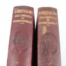 Libros de segunda mano: L-425.PEREZ GALDOS. OBRAS COMPLETAS. 2 LIBROS. TOMOS II Y III. EPISODIOS NACIONALES. 1941.. Lote 48625922