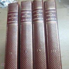 Libros de segunda mano: HISTORIA DE ESPAÑA Y AMERICA TOMO 1, 2, 3 Y 4 J. VICENS VIVES AÑO 1971. Lote 48898440