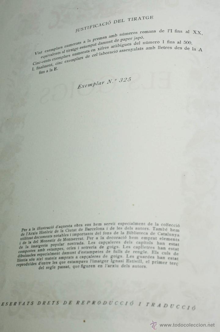 Libros de segunda mano: ELS GOIGS, JOAN AMADES VOL. 1. 26X35 CM. AÑO 1947 ED NUMERADA - Foto 4 - 48956431