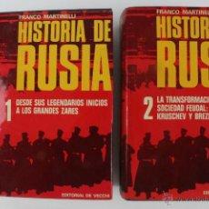 Libros de segunda mano: L-5370. HISTORIA DE RUSIA. FRANCO MARTINELLI. 2 TOMOS. ED. DE VECCHI. 1973.. Lote 49498432