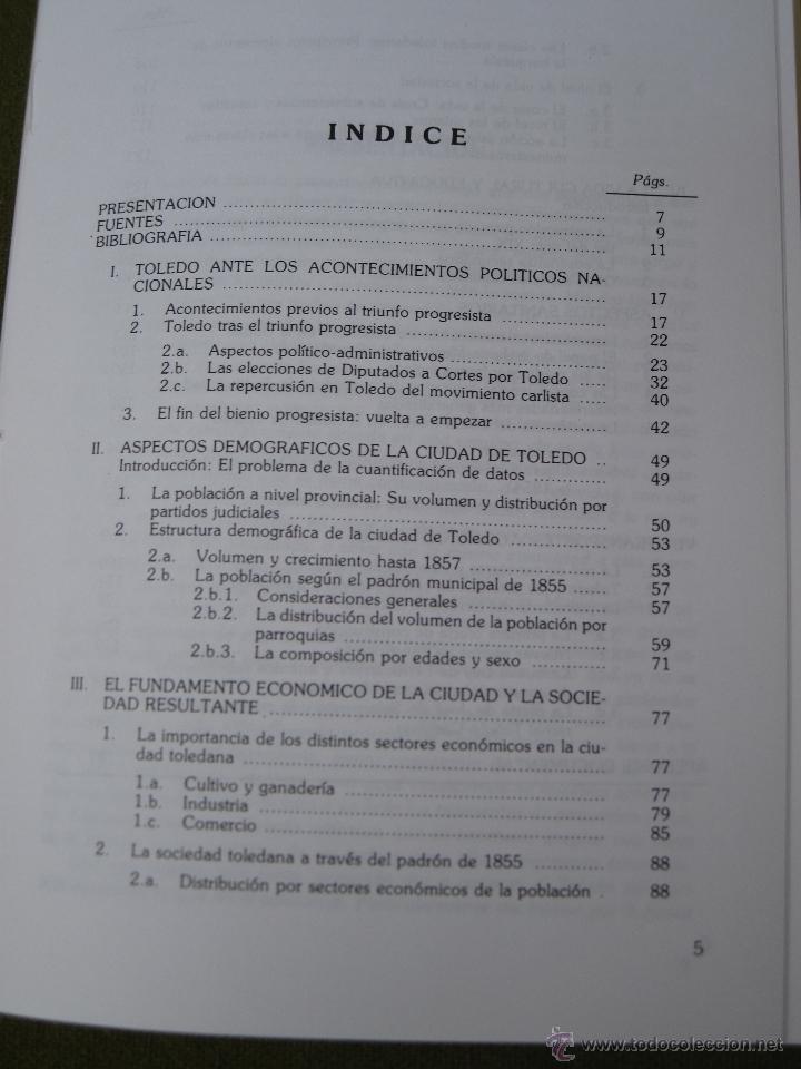 Libros de segunda mano: TOLEDO EN EL BIENIO PROGRESISTA 1854 -56. - Foto 2 - 50363244