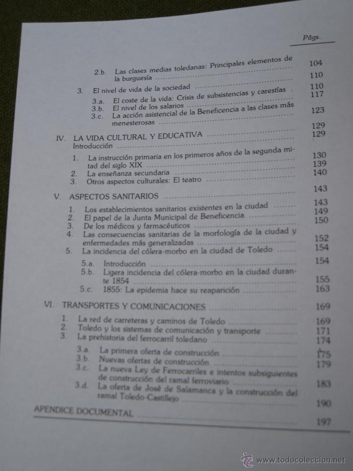 Libros de segunda mano: TOLEDO EN EL BIENIO PROGRESISTA 1854 -56. - Foto 3 - 50363244