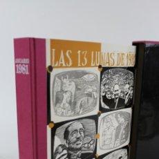 Libros de segunda mano: L-5636. ANUARIO LAS 13 LUNAS DE 1981 CON VINILO HECHOS HISTÓRICOS SIGNIFICATIVOS. Lote 50526665
