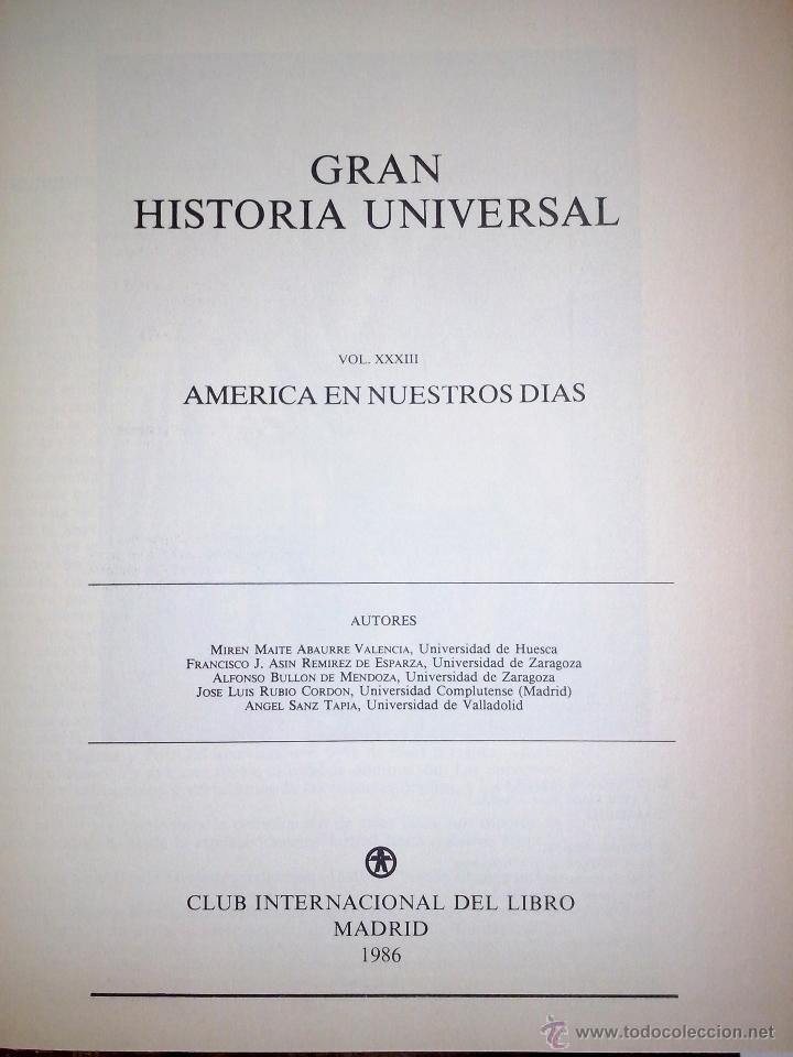 Libros de segunda mano: Gran Historia Universal COMPLETA 33 tomos. Enciclopedia Club Internacional del Libro. - Foto 3 - 51006493