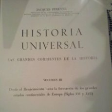 Libros de segunda mano: HISTORIA UNIVERSAL. JACQUES PIRENNE. TOMO III.. Lote 51301172