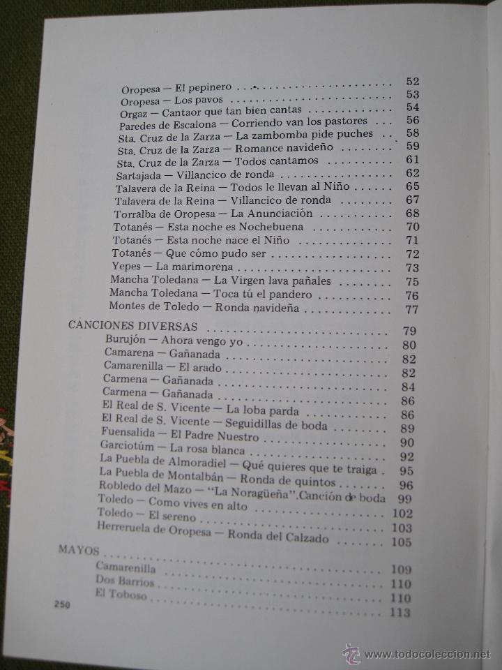 Libros de segunda mano: TEMAS TOLEDANOS - EXTRA 2 - FOLKLORE TOLEDANO : CANCIONES Y DANZAS. IPIET - TOLEDO 1982. - Foto 3 - 51519209