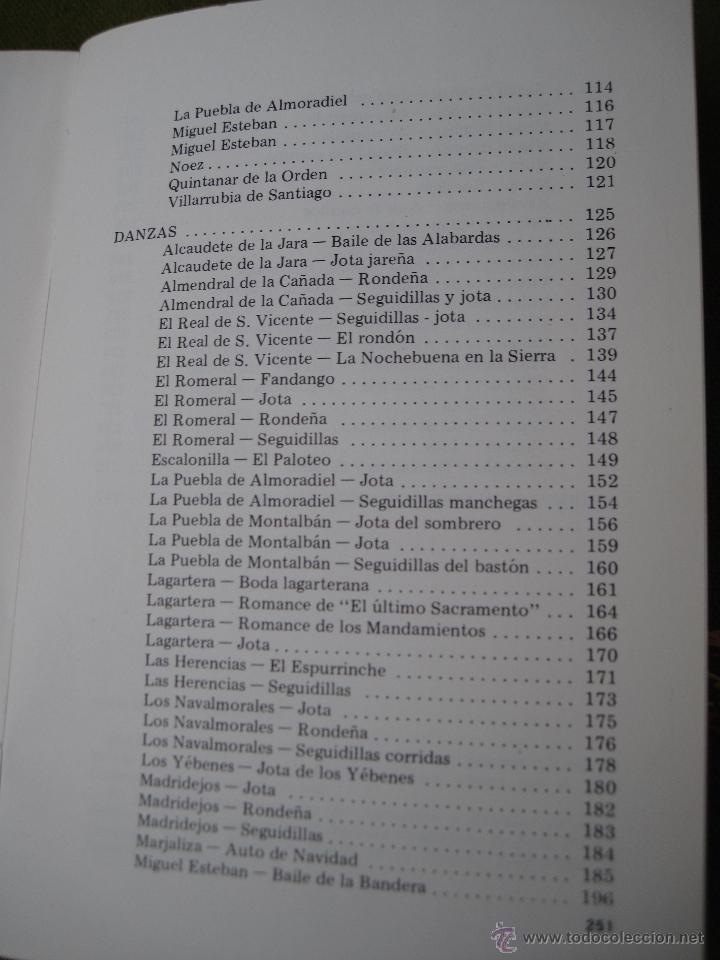 Libros de segunda mano: TEMAS TOLEDANOS - EXTRA 2 - FOLKLORE TOLEDANO : CANCIONES Y DANZAS. IPIET - TOLEDO 1982. - Foto 4 - 51519209