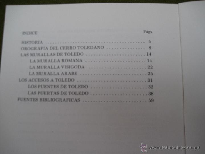 Libros de segunda mano: LAS MURALLAS Y LAS PUERTAS DE TOLEDO. IPIET 1981 - Foto 2 - 172657627