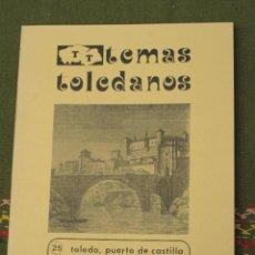 Libros de segunda mano: TOLEDO, PUERTO DE CASTILLA- IPIET1982. Lote 51966611