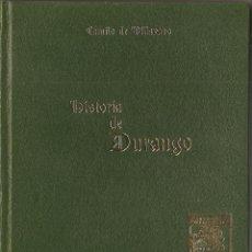 Libros de segunda mano: LIBRO, HISTORIA DE DURANGO Y DE SUS MAS ILUSTRES HIJOS, DE CAMILO DE VILLAVASO. Lote 53110952