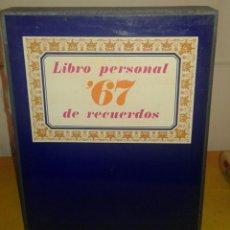 Libros de segunda mano: LIBRO PERSONAL DE RECUERDOS '67, DIFUSORA INTERNACIONAL 1968, COMPLETO. LIBRO, CD Y ESTUCHE. Lote 53189210