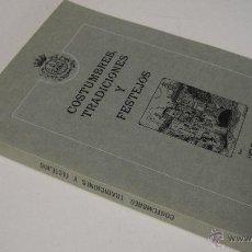 Libros de segunda mano: COSTUMBRES, TRADICIONES Y FESTEJOS. LUIS Mª.MARÍN ROYO, ED. BANCO DE BILBAO, TUDELA, 1981. Lote 53772866
