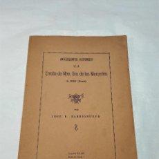 Libros de segunda mano: ANTECEDENTES HISTÓRICOS DE LA ERMITA DE NTRA. SRA. DE LAS MERCEDES DE BERJA - FIRMADO Y DEDICADO -. Lote 53945435