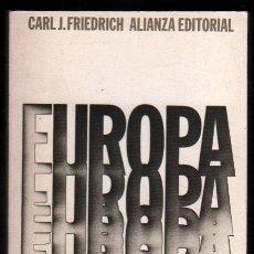 Libros de segunda mano: EUROPA - CARL J.FRIEDRICH *. Lote 54316250