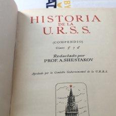 Libros de segunda mano: HISTORIA DE LA U.R.S.S. COMPENDIO C. Lote 54974385