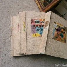 Libros de segunda mano: CIEN AÑOS DE FERROCARRIL EN ESPAÑA 4 TOMOS EDICIÓN NUMERADA. MADRID 1948 COMPLETA. Lote 59457115