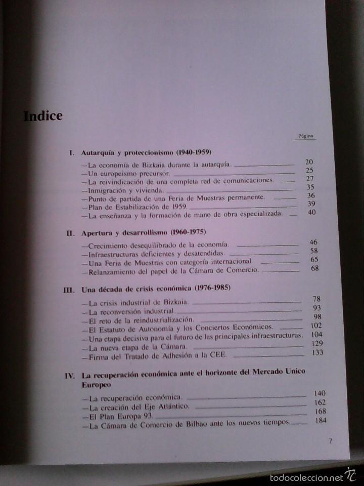 Libros de segunda mano: historia economica de bizkaia a tarves de la camara de comercio. de la autarquia al mercado unico - Foto 2 - 56661514