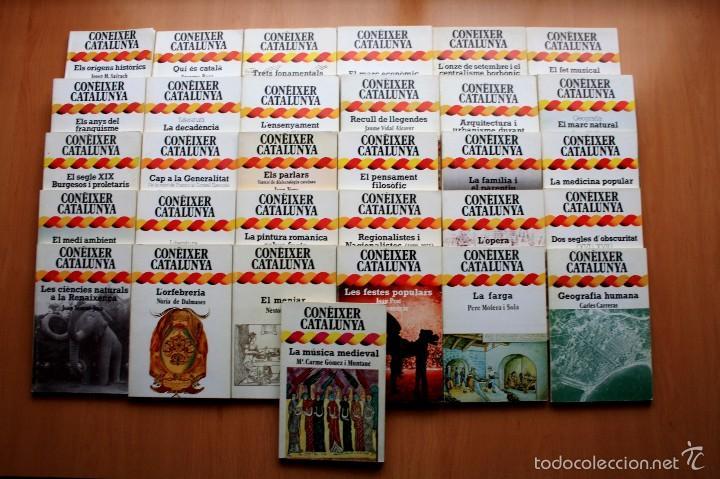 COLECCIÓN CONEIXER CATALUNYA - COMPLETA - 31 LIBROS - EN CATALAN - DOPESA (Libros de Segunda Mano - Historia Moderna)