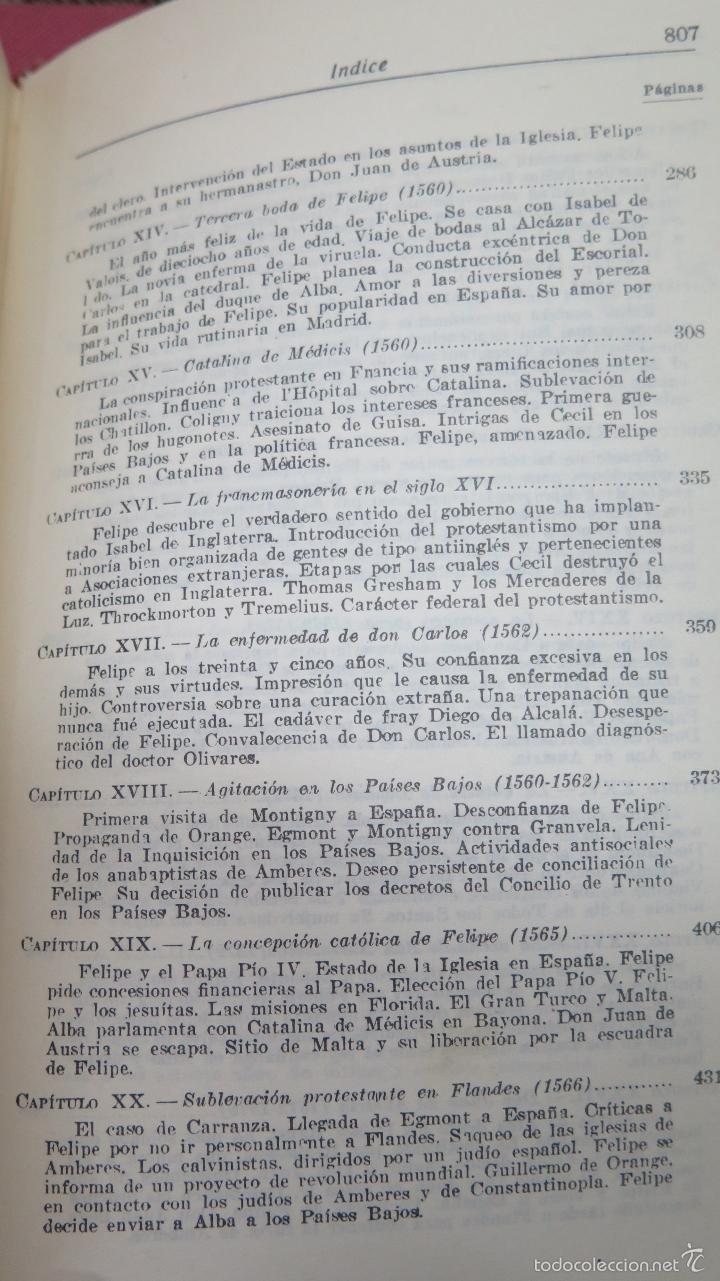Libros de segunda mano: FELIPE II. WILLIAM THOMAS WALSH - Foto 7 - 57606284