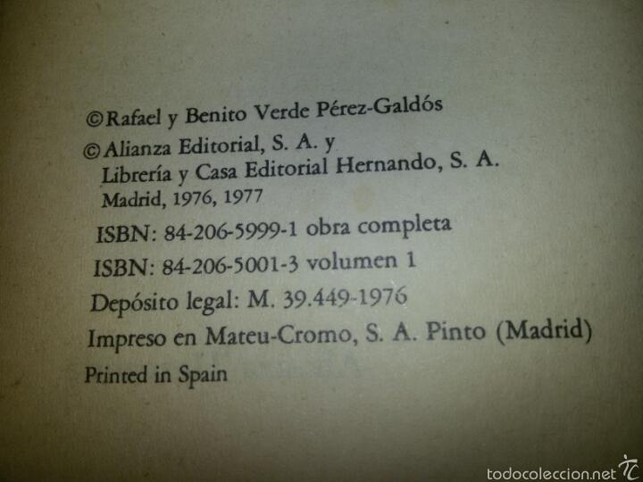 Libros de segunda mano: TRAFALGAR / Episodios Nacionales 1 / Benito Perez Galdos / 2 ed. 1977 - Foto 3 - 58149523