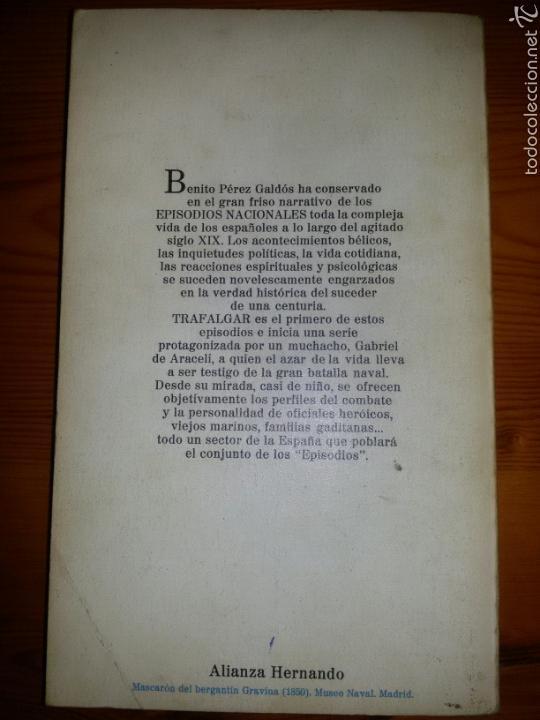 Libros de segunda mano: TRAFALGAR / Episodios Nacionales 1 / Benito Perez Galdos / 2 ed. 1977 - Foto 4 - 58149523
