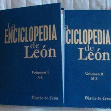 Libros de segunda mano: LA ENCICLOPEDIA DE LEÓN 1ª EDICIÓN 2005 HISTORIA POLÍTICA PATRIMONIO CULTURA ECONOMÍA GEOGRAFÍA. Lote 58208441